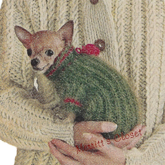 Chihuahua Dog Sweater Size 6 8 and 10