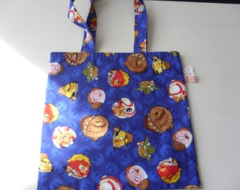 Small Tote Bag with Angry Birds design