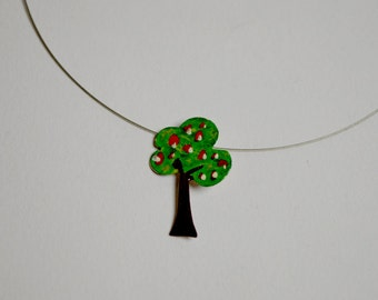 Tree necklace,hand painted,for her ,for teens