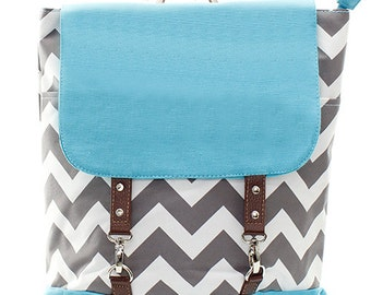 Personalized Canvas Chevron Backpack