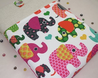 Elephants macbook air case/11'' macbook case,other 11''laptops sleeve-laptop case-laptop cover-laptop bag,padded pocket,custom made size