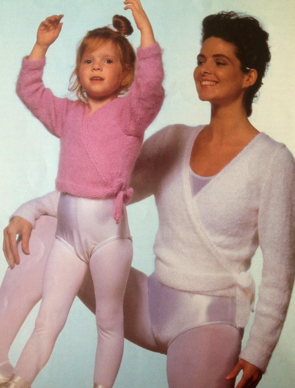 Ballet Cardigan Knitting Pattern : ballet top knitting pattern cross over cardigan for girls and