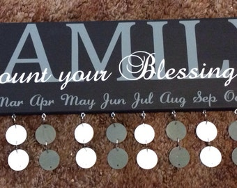 Count Your Blessings Birthday board : STYLE 44