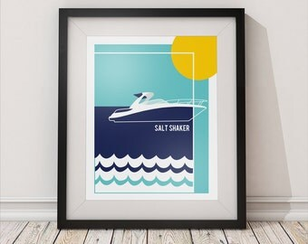 CUSTOM Boat Poster