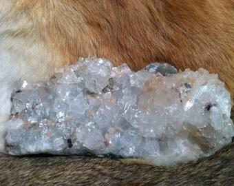 Apophylite and Stilbite crystal mineral specimen