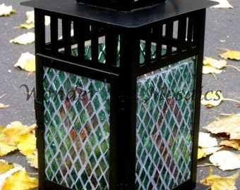Breast Cancer Awareness Mosaic Lantern - Pink Ribbon