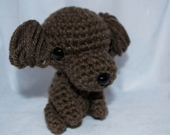 Crochet Toy Poodle Dog