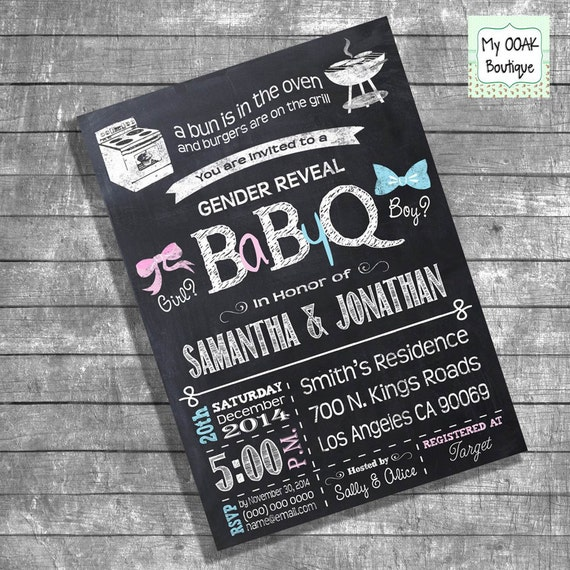 bbq gender reveal invitation baby q gender reveal couples