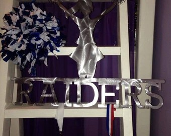 Custom cheerleader medal display