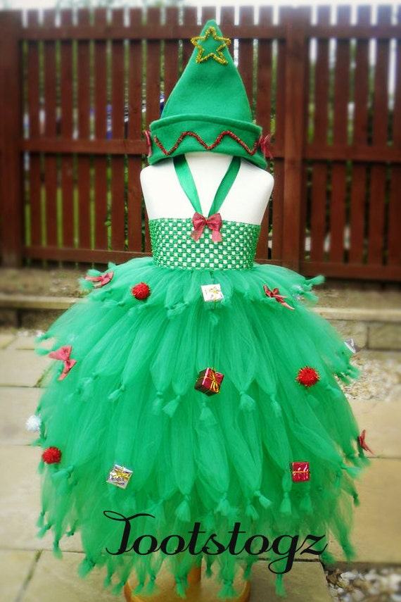 Items Similar To Christmas Decorated Tree Xmas Girls Tutu