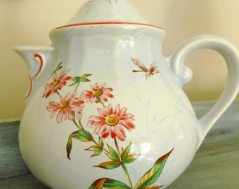 Antique Teapot from France,marked K G Luneville France, d' apres Galle