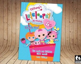 Lalaloopsy gracias tarjeta