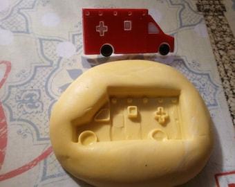 Miniature Ambulance Flexible Silicone Mold