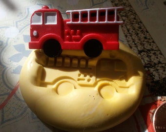 Miniature Firetruck Flexible Silicon Mold