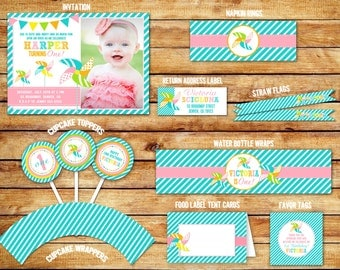 Pinwheel Birthday Ultimate Party Package - Printable