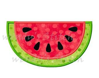 Watermelon applique machine embroidery design instant download