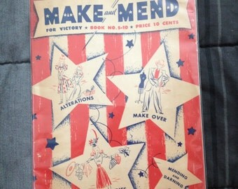 Make and Mend For Victory. Book No. S-10