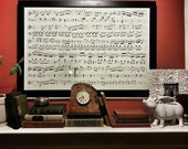 Custom Drawn Sheet Music in Charcoal, Great Anniversary or Wedding Gift