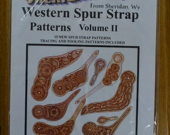 56793- Sheridan Style Western Spur Strap Patterns Volume 2 Leather craft Instructions