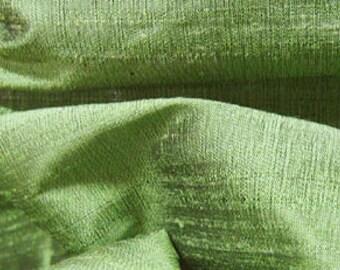 Sage Green 100% Dupioni Silk  Fabric