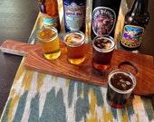 Beer Flight Tasting Board with 4 Glasses
