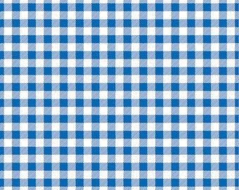 Blue Gingham  craft  vinyl sheet - HTV or Adhesive Vinyl -  royal blue and white pattern   HTV207