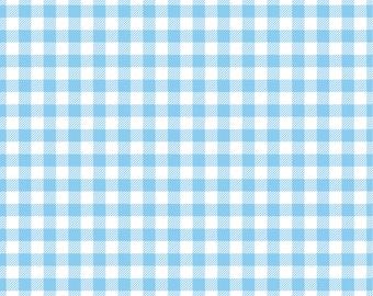 Light blue Gingham  craft  vinyl sheet - HTV or Adhesive Vinyl -  baby blue pattern vinyl   HTV209