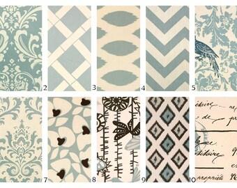 ZIPPER PILLOW COVER Decorative pillow, throw pillow, toss pillow, cushion, cover, blue pillow, powder blue pillow, Euro sham, Lumbar