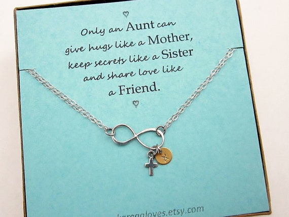Valentines Day Quotes For Grandma: Infinity Cross Disc Bracelet Aunt Gift Grandma Gift By