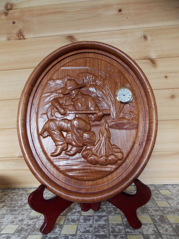 Unique wall clock cowboy playing guitar by