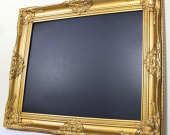 Framed Chalkboard Gold Baroque Frame Wedding Memo Menu Photo Prop Kitchen Chalkboard Chalk Board Message Sign Dorm Room Decor 16x20