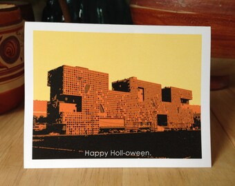 Funny Halloween Card MIT Architecture Steven Holl graphic Illustration