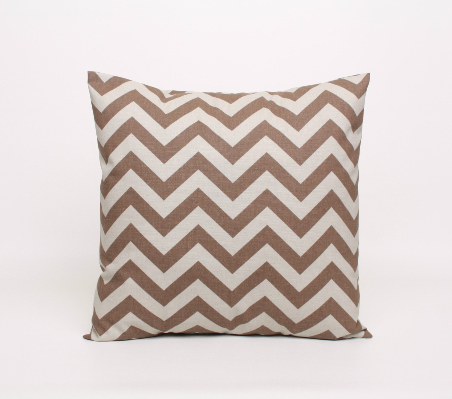 pewter gray and brown chevron pillow cover in premier print. Black Bedroom Furniture Sets. Home Design Ideas