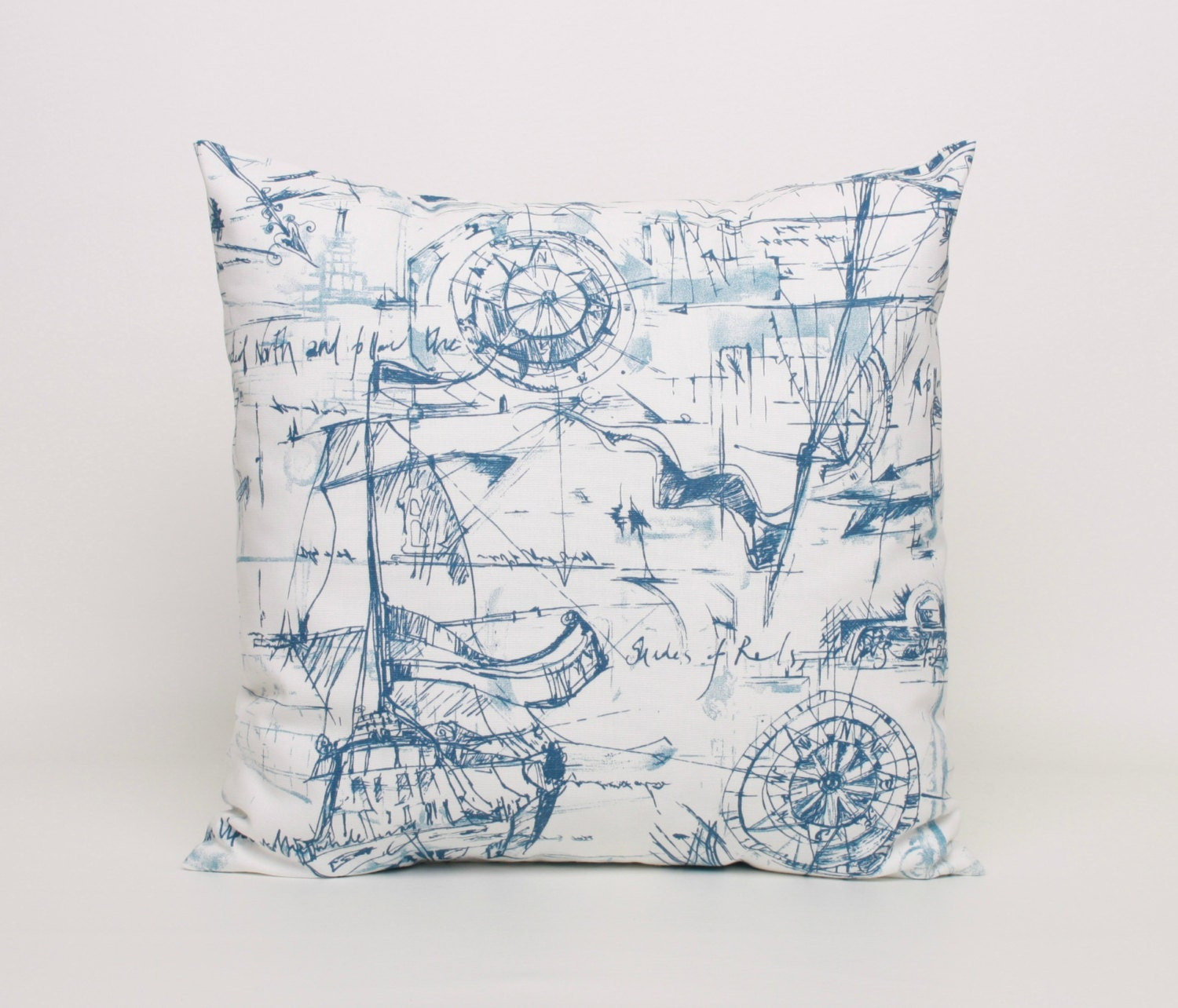 Throw Pillows Nordstrom : Nautical Throw Pillow Cover Blue and White by DimensionsHomeDecor