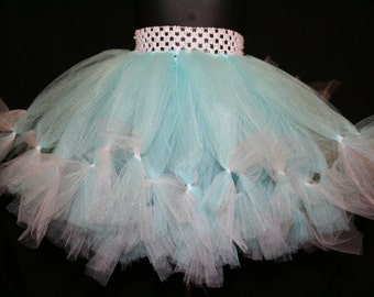 Light Blue and White Tutu, Petti Tutu Skirts, Children's Tutu Skirts, Christmas tutu, Light Blue and White Christmas Tutu
