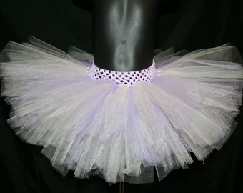 Ivory and Lavender Tutu Skirt, Coral Tutu, Newborn to 6T Lavender and Ivory Tutu, Tutu Skirt in Ivory and Lilac