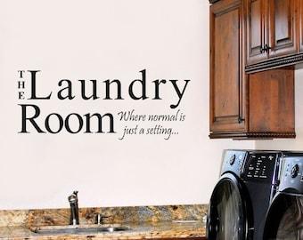 Laundry Room Humorous Wall Stencil WW219