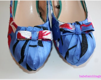 Something Blue - Customised Silk Shoes with Pearl Straps
