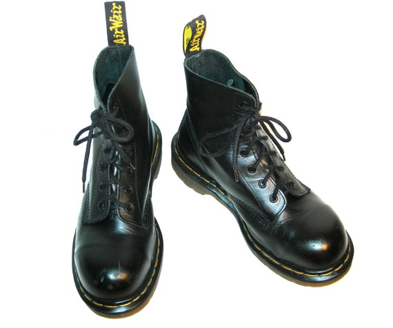steel toe doc martens 1460 black leather boots uk by londonbay