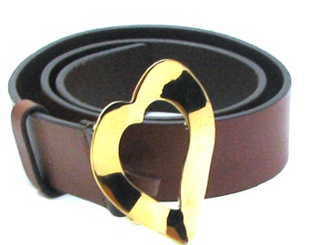 YVES ST LAURENT, woman vintage leather belt