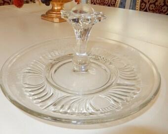 GLASS SERVING PLATTER