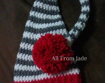 Newborn Baby Crochet Hat, Elf Hat, Baby, Girls, Boys, Striped Hat, Solid Hat (Available in many colors)