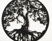 Hand drawn & laser cut, metal wall art Tree of Life