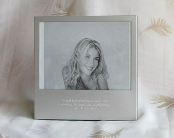 Personalized 5x7 photo frame with quote - Engraved photo frame - 5 x7 Picture frame with engraved quote