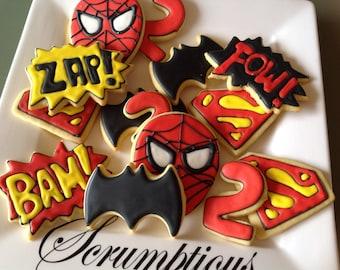 24 Super hero cookie platter.