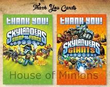 Skylanders Thank You Cards