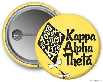 KAO Kappa Alpha Theta Love at First Kite Sorority Button