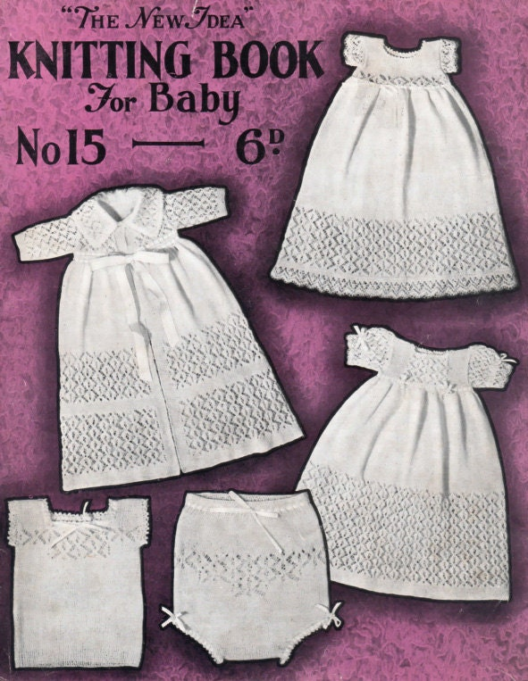 A vintage 1930s Babys knitting pattern book . 20 by OzgirlfromOz