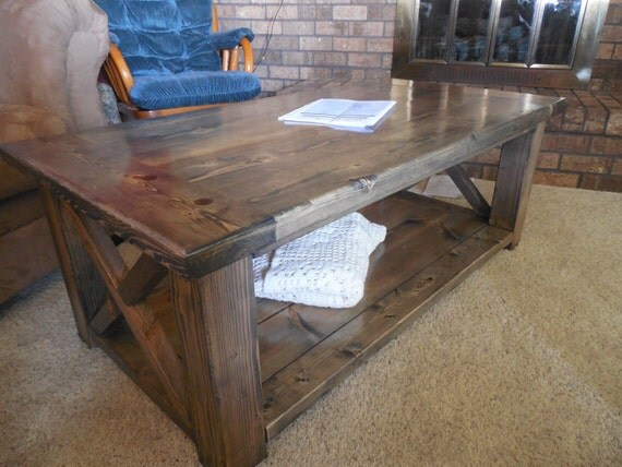 Rustic Coffee Table With Breadboards By CancerKiller On Etsy