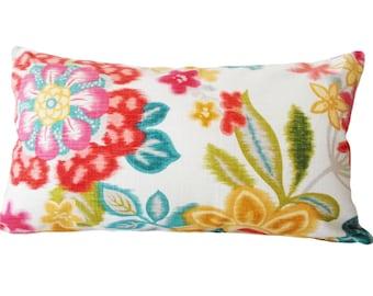 Temara Rose Floral Kaufmann Decorative Pillow Cover - Throw Pillow - Both Sides - 12x16, 12x20, 14x18, 14x24, 16x16, 18x18, 20x20, 22x22